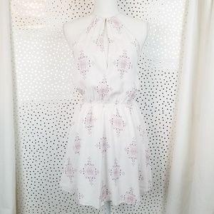 Tobi Medallion Print White Skater Dress | Size XS